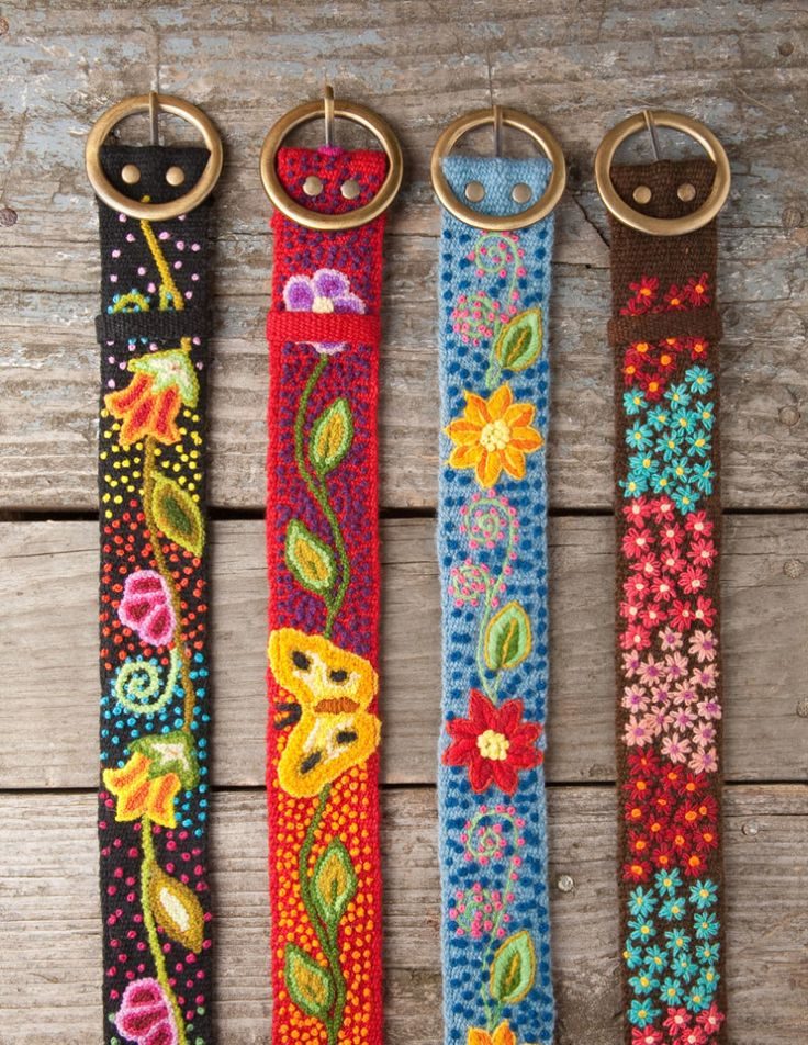 Embroidered belts