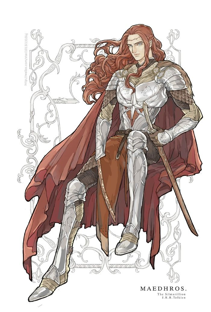 Maedhros. I can't remember if he wore something like that in place of his hand in the book, but I like it.
