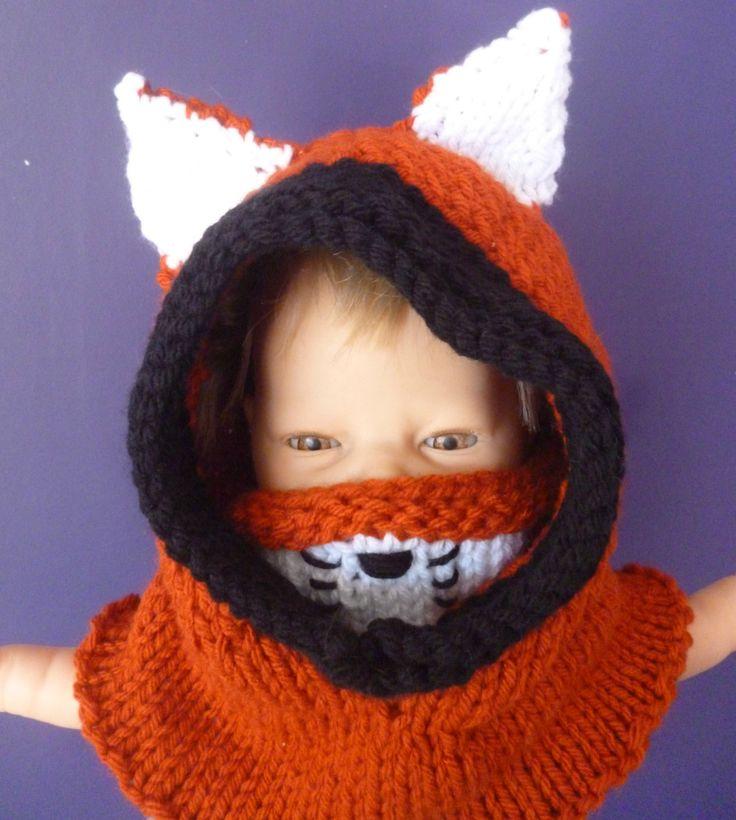 fox hood, fox hat, fox snood, knitted fox hat, fox cowl, baby fox hat, adult fox hat, animal hat, novelty hat, wolf hat, bear hat by UniquelySam on Etsy