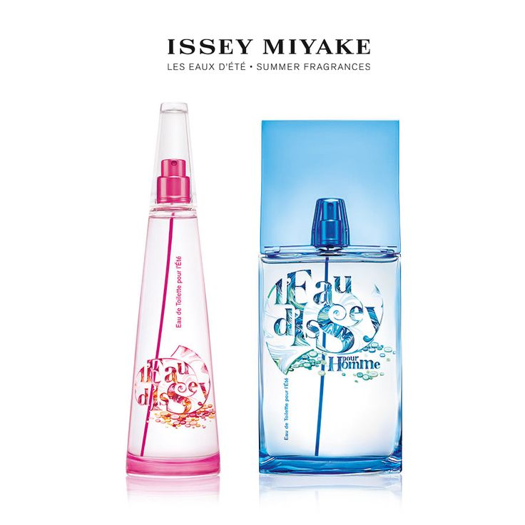 Here comes the sun.. Splash your way into summer, Yulia Brodskaya shows you how. Presenting Issey Miyake L'Eau d'Ete.