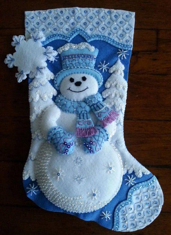 Muñeco de nieve copo de nieve Bucilla 18 terminado