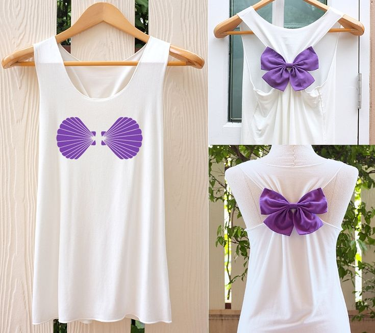 Shell Ariel Mermaid Bow Tank Top. Racerback bow. Disney shirt Ariel Little Mermaid Tank Top Bachelorette Party Tank Tops. Work out tank top. by TheClover88 on Etsy https://www.etsy.com/listing/227605177/shell-ariel-mermaid-bow-tank-top