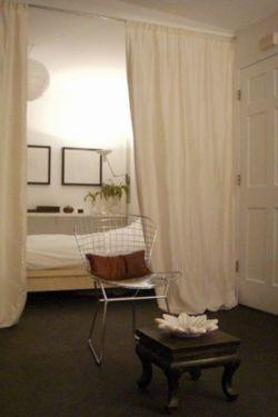 separador de ambientes mediante el uso de una cortina