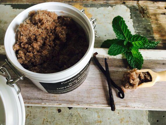 Body Scrub. Coffee  Peppermint Scrub in a by PureHavenNaturals