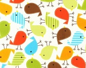 Cute bird fabric