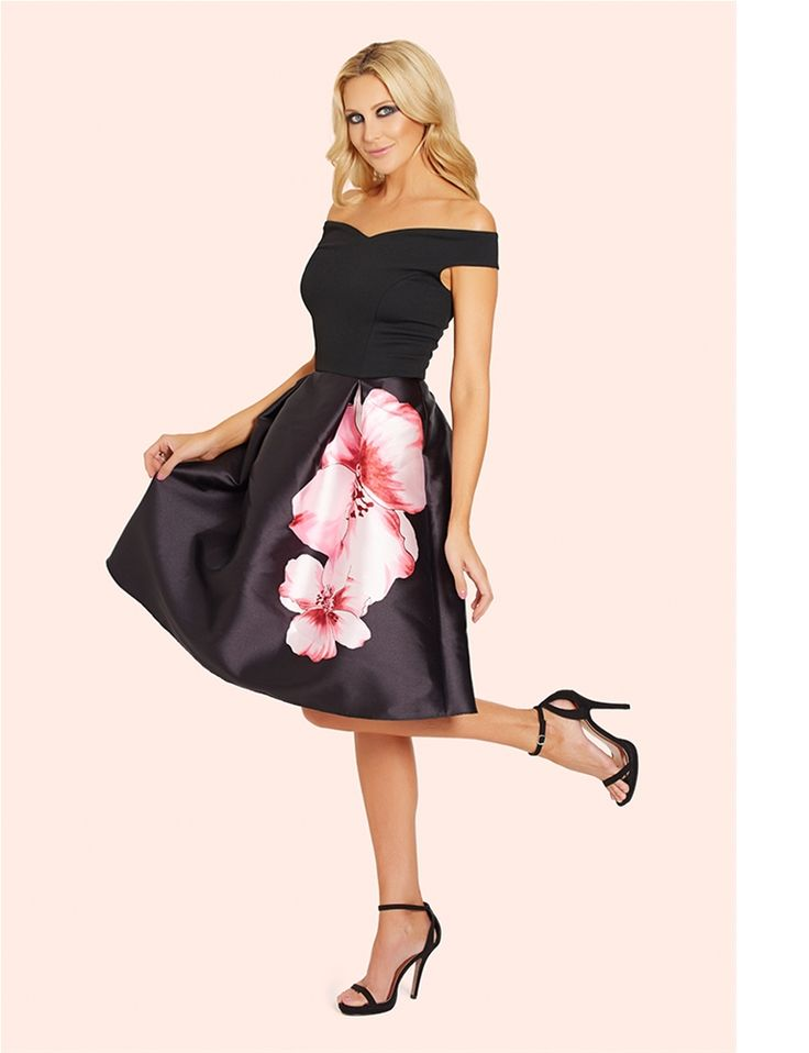 Levana 2 in 1 Floral Sateen Prom Dress  from the occasion wear and wedding collection of Sistaglam