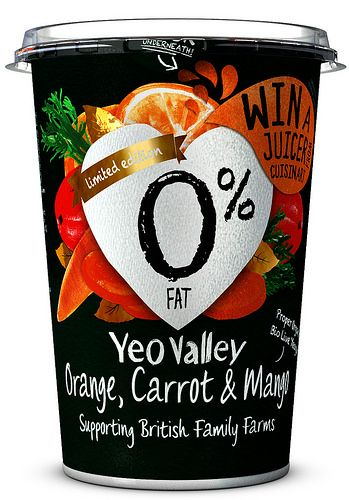 Yeo Valley Orange, Carrot Mango yogurt