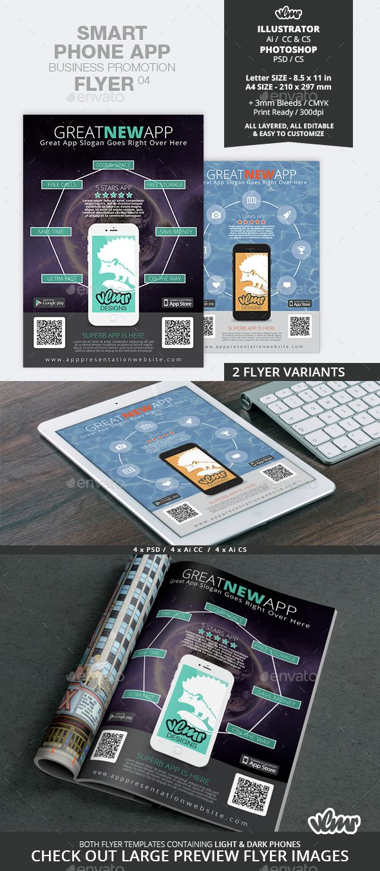 Poster design app android - Smart Phone App Business Promotion Flyer 04