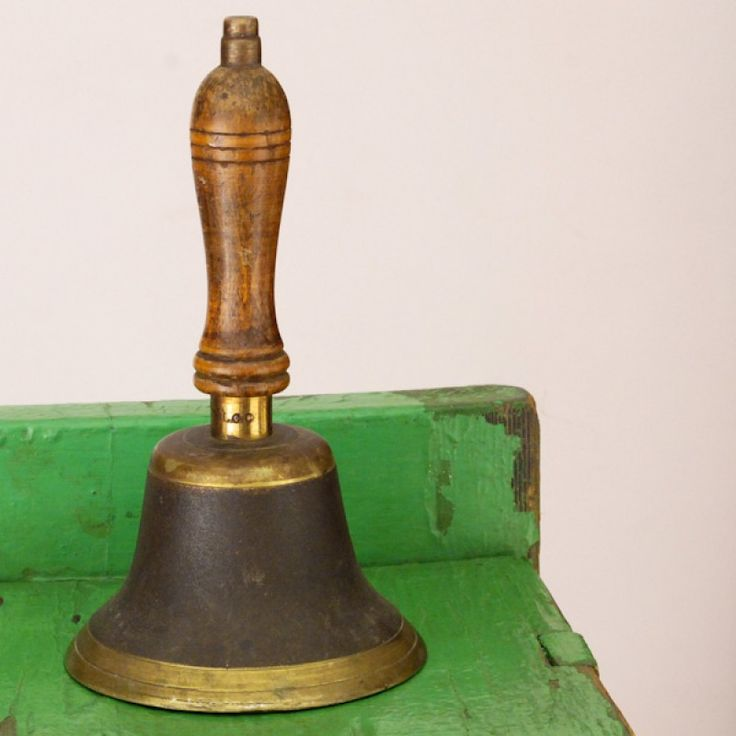 antique school bell - Google Search