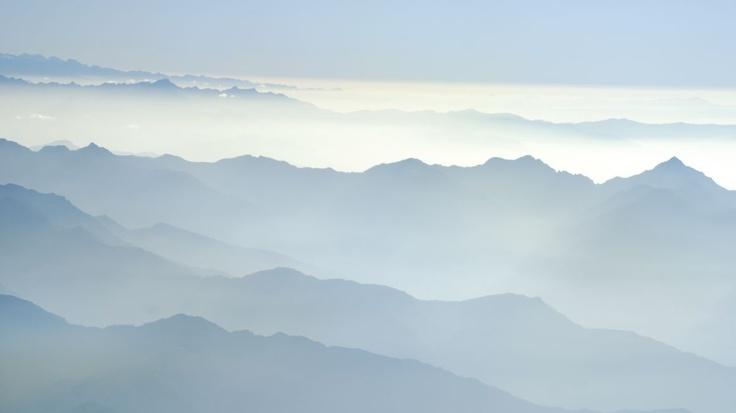 Lot nad górską koroną świata