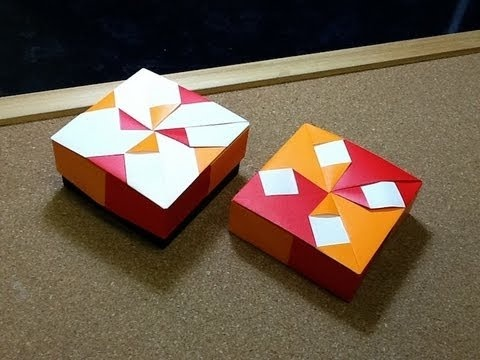 Daily Origami: 467 - Modular Pinwheel Box