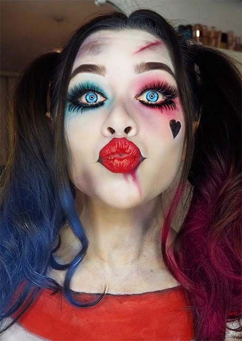 Harley Quinn Makeup for Halloween