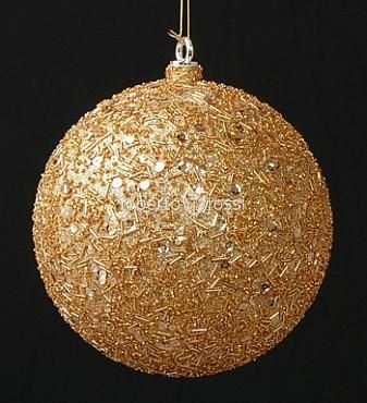 Christmas balls with sparkles
