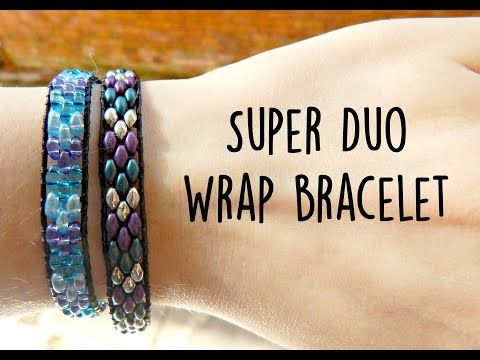 DIY Twin Bead/Super Duo Wrap Ladder Bracelet ¦ The Corner of Craft - YouTube