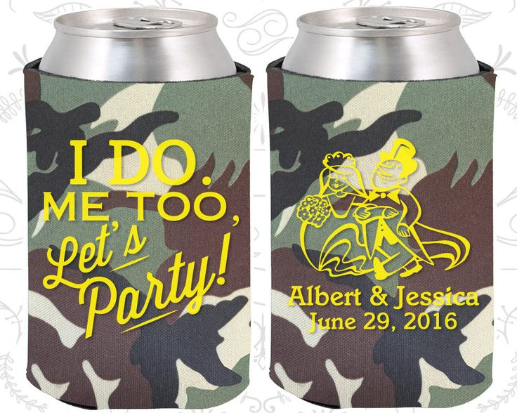 I do, Me Too, Lets Party, Personalized Gift, Romantic Wedding Gift, I do Wedding Gift, Lets Party Wedding Gift, Wedding Koozies  (594)