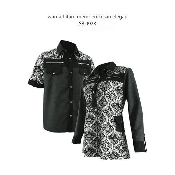 warna hitam memberi kesan elegan - SB-1928 #kemejabatikmedogh #sarimbitbatikmedogh Kemeja ready size S, M, L, XL Blus ready size M http://www.medogh.com/blog/artikel-batik/nuansa-elegan-warna-hitam-sarimbit-batik-new-trust/