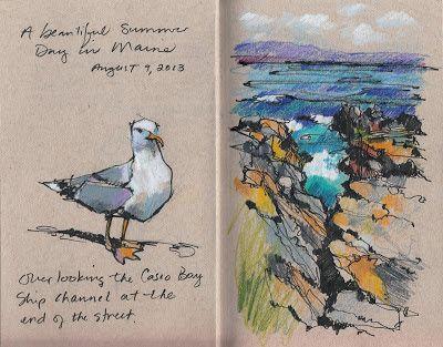 Jennifer Lawson: A summer day on the coast of Maine