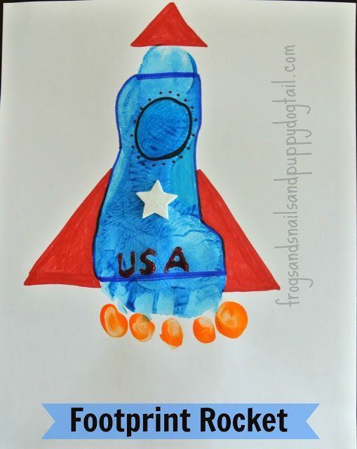 OK some of these footprint/handprint drawings are kind of cute. But many are just stupid. How does this look like a rocket? Why would you want to draw a rocket this way rather than drawing the shape yourself?