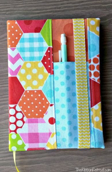 Notebook cover Tutorial - 10 Back to School Sewing Ideas with Free Patterns on believeninspire.com