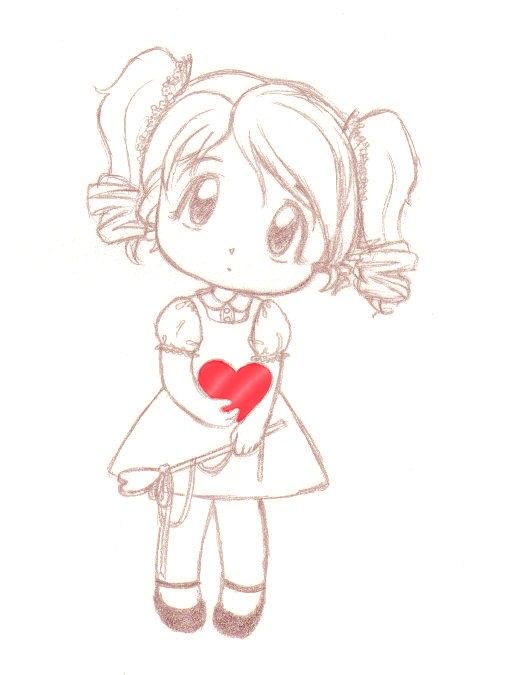 valentines valentine drawing drawings anime drawn