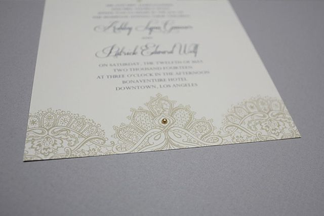DIY Wedding Invitation Hacks: Adorn with adhesive gems