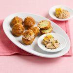 Ecco i muffin in una sfiziosa variante salata, con tonno, pistacchi con mousse di branzino. Prova la ricetta di Sale&Pepe.