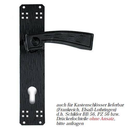 Türbeschlag Schmiedeeisen als Türdrücker-Garnitur , Drückergarnitur Modell  ELGA 340