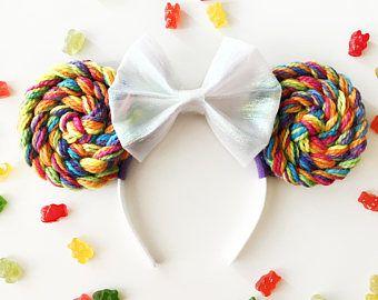Unicorn Lollipop Mouse Ears Headband | Minnie Mouse Ears | Mickey Ears | Mouse Ears | Rainbow Mouse Ears | Unicorn | Lollipop