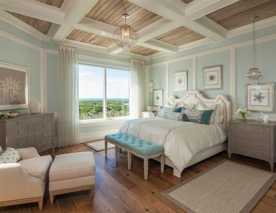 tongue and groove ceiling | bead board ceiling treatment | Coastal Beach Home…
