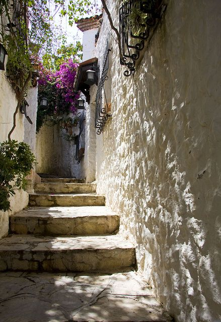 Narrow streets in Marmaris, Turkey