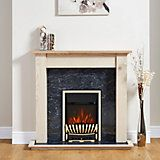 Elegance Chrome Effect Inset Electric Fire Suite | Departments | DIY at B&Q