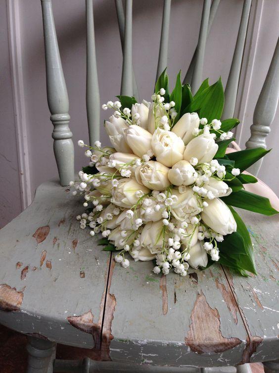 bouquet sposa tulipani bianchi