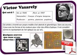 Keith Haring Self Portrait Victor Vasarely, fiche...