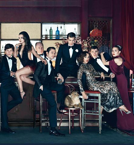 Photographer: Norman Jean Roy<br><br /> Featuring (from left to right): Ryan Reynolds, Jake Gyllenhaal, Anne Hathaway, James Franco, Jennifer Lawrence, Anthony Mackie, Olivia Wilde, Jesse Eisenberg, Mila Kunis, Joseph Gordon-Leavitt, Andrew Garfield, Rashida Jones, Garrett Hedlund and Noomi Rapace