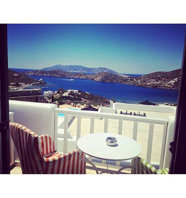 """Let majestic Ios island views from your balcony at Liostasi Ios Hotel & SPA inspire you. Who would you like to share this seat with?  Photo: """"kaceytrekson"""" via Instagram"""