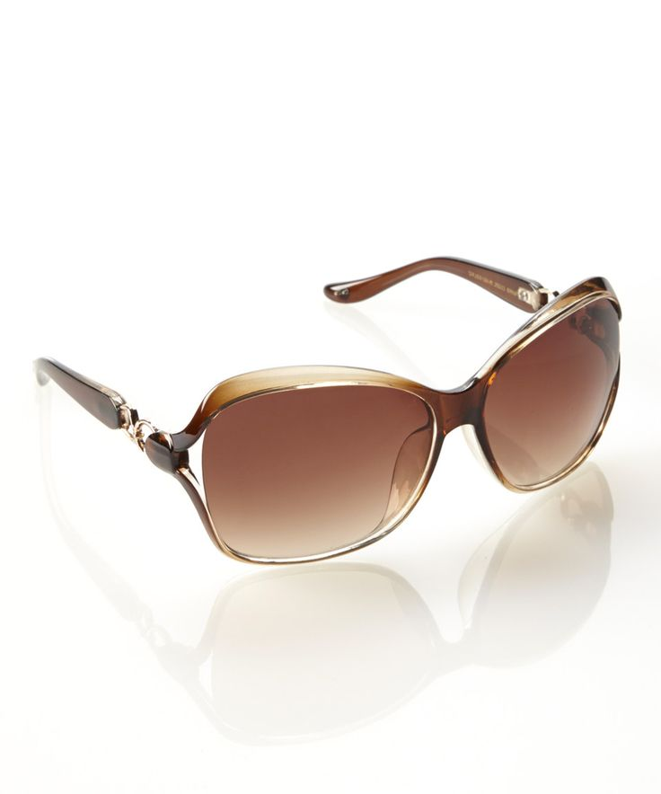This Jessica Simpson Collection Brown Fade Golden Age Sunglasses by Jessica Simpson Collection is perfect! #zulilyfinds