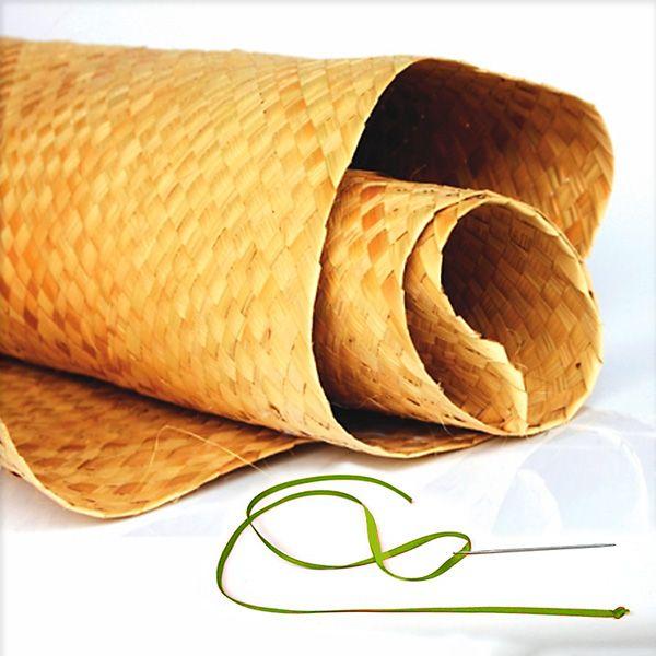 Materiais para customizar um tapete de palha