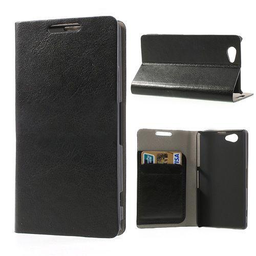 Booktype hoesje zwart voor de Sony Xperia Z1 mini