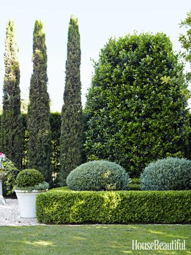 "Outdoor Rooms: ""The architecture of green, strategically placed and shaped, will seamlessly add square footage to the footprint of a house,"" designer Charlotte Moss says. ""It can provide vistas that seem to extend the acreage, can frame a foundation like an Elizabethan collar, or create a wall of privacy placing your house at the center of your own secret garden."""