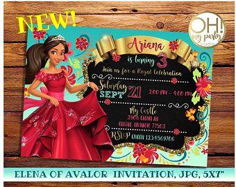 Elena de Avalor invitación, elena de avalor cumpleaños, elena de invitación de cumpleaños de avalor, elena de avalor, Infanta elena invitación, elena