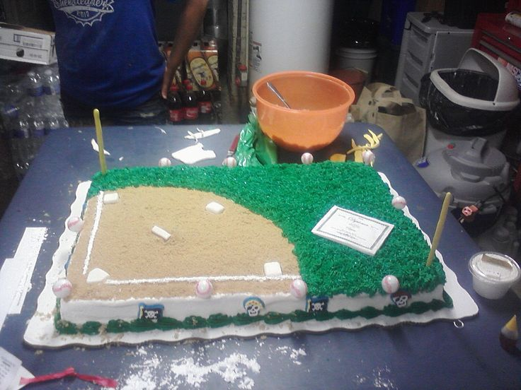 Baseball Field Graduation Cake Food Recipes Pinterest