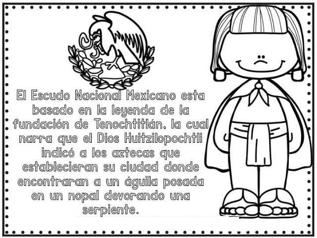 Tareitas Significado Del Escudo Nacional Dia De La Bandera Aprendizaje De Ingles Para Ninos Mexico Bandera
