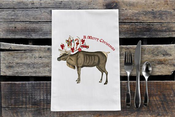 Check out this item in my Etsy shop https://www.etsy.com/ca/listing/553974284/christmas-moose-tea-towel
