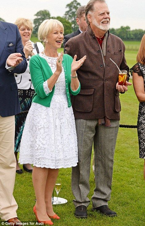 Dame Helen Mirren and Taylor Hickford attend day one of the Audi Polo Challenge
