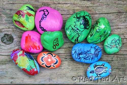 """Toddler friendly """"good luck"""" stones This is perfect for my Sophie on her first day of school!!!"""