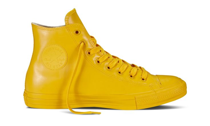 Converse takes its famous Chuck Taylor All Star design very seriously, indeed. And rightly so. The latest incarnation is this colour-popping, splash-proof shoe, which comes in Paddington Bear shades of mustard, purple, red, navy, olive and black
