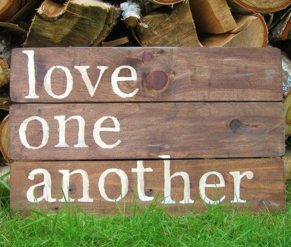 Love Decor Signs: Rustic Wall Decor, Reclaimed Wood Wall Art Love Quote Wall