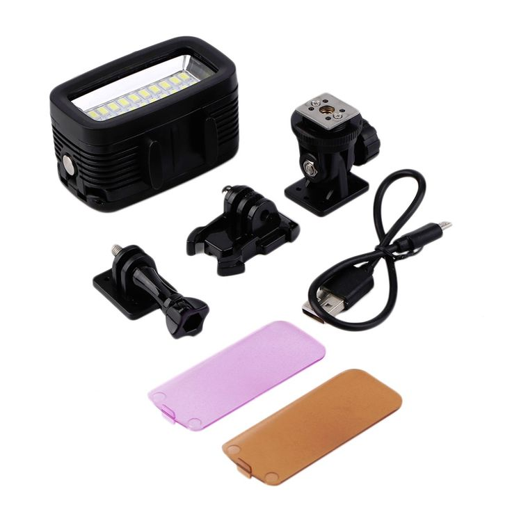 Newest 30M Waterproof Super Bright Underwater LED Video Light Action Camera Diving Lamp Suitable For GOPRO. Click visit to buy #Photographic #Lighting #PhotographicLighting