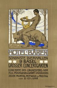Hotel Bären in Basel, Grosser concertgarten