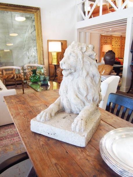 Cococozy Brenda Antin Stone Lion Sculpture Home